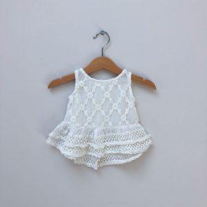 River Island baby girl white top